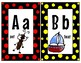 """Mickey Inspired"" Black Red and Yellow classroom Alphabet"