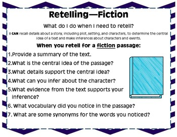 *Middle Grades* Fiction Retelling Questions and Stems