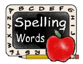 ~ Middle School (6th, 7th and 8th grade) Weekly Spelling Words ~