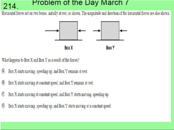 ***Middle School Science Warm-up Problems/Problems of the Day***