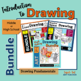 Middle or High School Art Beginner Drawing Lesson Bundle D