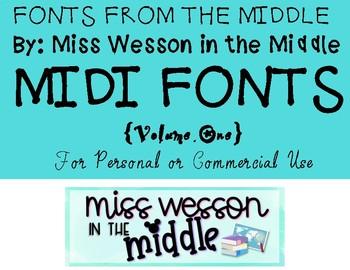 """Midi"" Fonts Volume One"