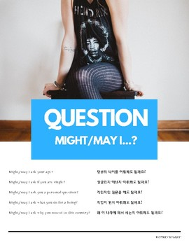 """Might/May I"" Modal Verb Pattern English (w Korean translation)"