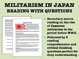 """""""Militarism in Japan"""" Reading with Questions - Interwar Period"""