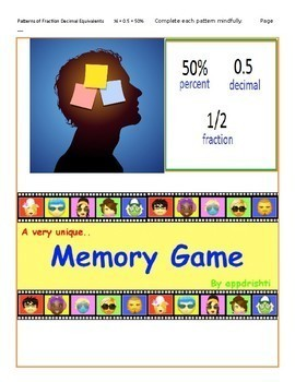"""""""Mindful Discovery: Fractions, Decimals, and Percent Equivalents"""".  NO PREP!"""