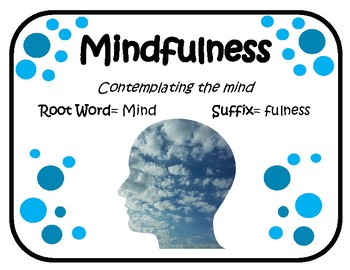 ~ Mindfulness Lesson, Posters and Journal Entries! ~ English Version