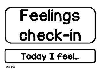 *Mindfulness in the classroom* - Feelings check-in