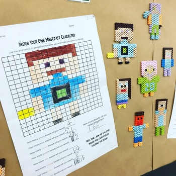 """Minecraft"" Character Hama Beads Design Template"