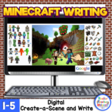 *Minecraft Distance Learning Digital Writing Create-a-Scen