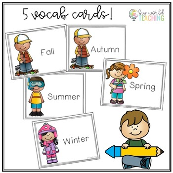 *Mini Book* My Seasons Book and Word Wall Cards
