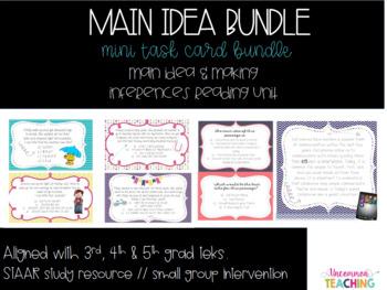 {Mini} Main Idea & Making Inferences Task Card Bundle