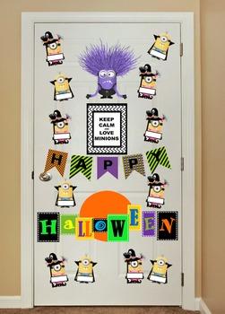 - Minions - Halloween Classroom Door Decor