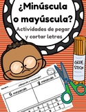 ¿Minúscula o mayúscula? Capital & Lower Case Letter in Spanish- Cut & Paste