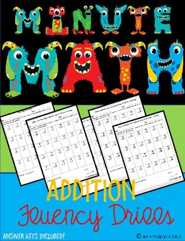 {Minute Math} Addition Fluency Drills