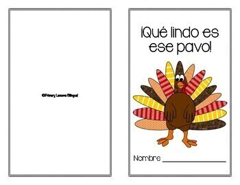 ¡Qué lindo es ese pavo! - A Thanksgiving Emergent Reader in Spanish