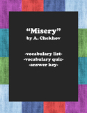 """Misery"":  Vocabulary"