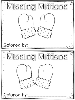 """Missing Mittens"" Emergent Reader (A Winter/December/January Dollar Deal)"