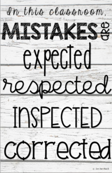 """""""Mistakes"""" Poster"""