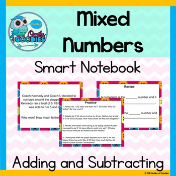 Mixed Numbers - Adding and Subtracting SN