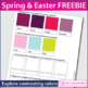 Free 'Modern art' Easter coloring templates rabbit and egg craftivity