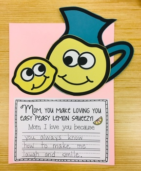 """""""Mom, You Make Loving You Easy Peasy Lemon Squeezy!"""" - A Mother's Day Craftivity"""