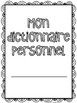 {Mon dictionnaire personnel} French personal alphabetical or phonetic dictionary