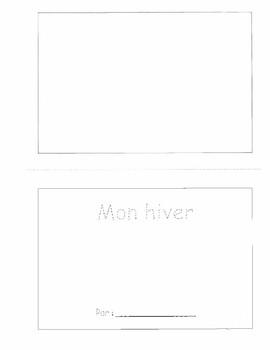 """""""Mon hiver"""" Student Book"""
