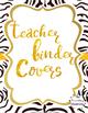 Editable Jungle Animal Print Teacher Binder Covers