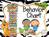 Editable Jungle Zoo Safari Behavior Clip Chart
