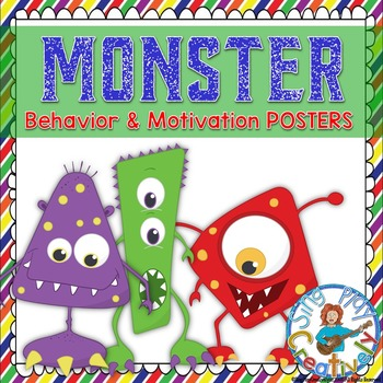 """Monster"" Behavior and Motivation Posters for Elementary Classrooms"