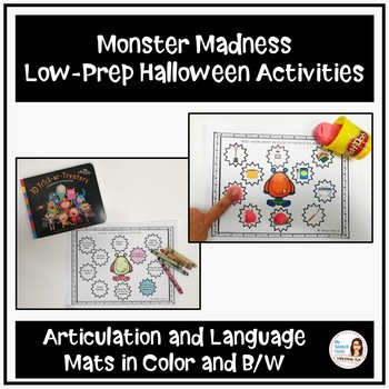 """Monster Madness"" Low-Prep Halloween Speech and Language Activities"