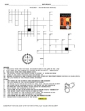 """""""Monster"""" - Novel Review Activity - Crossword Puzzle"""
