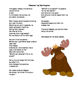 """Mooses"" Poetry and Figurative Language Analysis"
