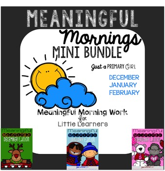 ~*Morning Work December January February Bundle