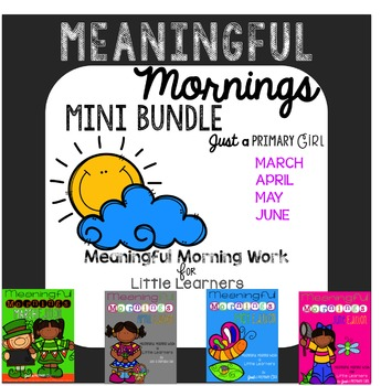 ~*Morning Work March April May and June Bundle