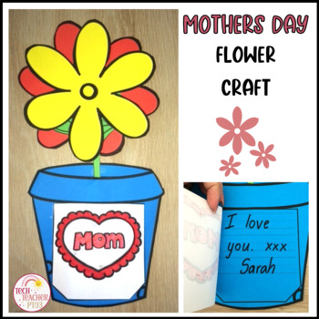♥♥ Mother's Day Flower Craft Activity - Easy to make gift