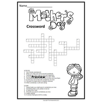 ♥♥ Mother's Day Puzzle Pack: Crossword and Word Search ♥♥ $1 DEAL