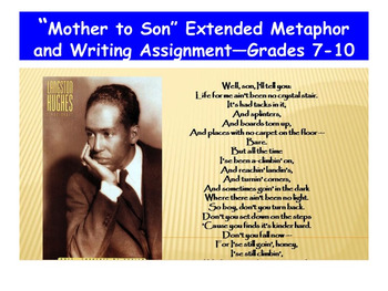 """Mother to Son"" Extended Metaphor and Writing Assignment—Grades 7-10"