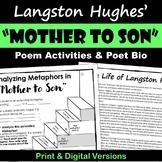 Mother to Son Langston Hughes Digital Poetry Analysis - Pr