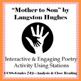"""Mother to Son"" by Langston Hughes Interactive & Engaging Poetry Activity"