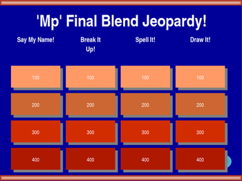 'Mp' Final Blend Jeopardy