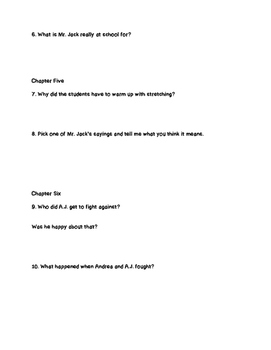 """""""Mr. Jack is a Maniac"""" Comprehension Questions"""