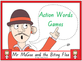 """Mr McGee and the Biting Flea"" action words (verbs) games"