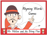 "Mr McGee and the Biting Flea"" rhyming words games"
