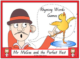 """Mr McGee and the Perfect Nest"" rhyming words games and more!"