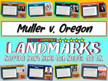 -Muller v. Oregon- Landmark Supreme Court Case (PPT, handouts & more)
