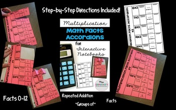 {Mult. and Div. Bundle} Math Facts Accordions for Interactive Notebooks