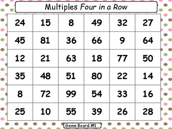 """Multiples"" Four-In-A-Row Game"