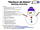 """Muñeco de Nieve"" Snowman Holiday Activity for Spanish Students (Grades K-6)"