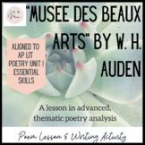"""""""Musee des Beaux Arts"""" Poem Study"""